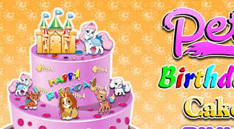 Palace Pets Birthday Cake - online game | Mahee.com