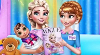Mommy Elsa Vogue Interview - online game | Mahee.com