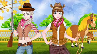 Frozen Sisters Cowgirl Fashion - online game | Mahee.com
