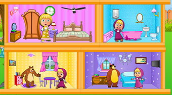 Masha And The Bear Dollhouse | Free online game | Mahee.com