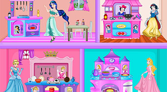 Princess Kitchen Dollhouse | Jeu en ligne gratuit | Mahee.fr