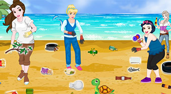 Princesses Beach Cleaning - Game | Mahee.com