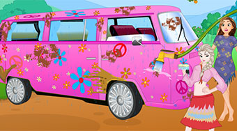 Princess Hippie Van Wash - online game | Mahee.com