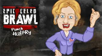 Epic Celeb Barwl: Punch Hillary - online game | Mahee.com
