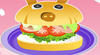 Cooking Pig Burger - online game | Mahee.com