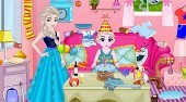 Baby Elsa Birthday Party Cleaning