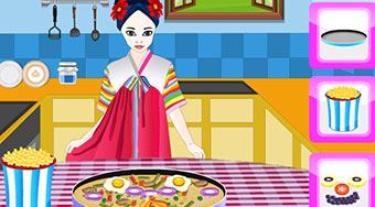 Cooking Korean Pizza - Game | Mahee.com