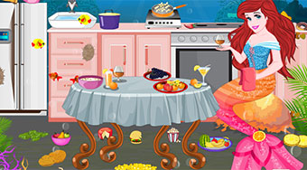 Ariel Kitchen Cleaning | Free online game | Mahee.com