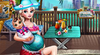 Pregnant Eliza Pool Fun - online game | Mahee.com