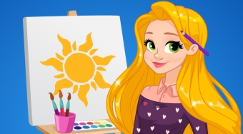 Rapunzel Art School - Game | Mahee.com
