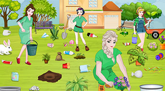 Princesses Go Green Clean Up | Mahee.com