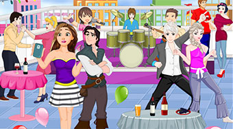 Princesses Rooftop Party - online game | Mahee.com