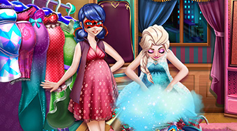 Ladybug and Elsa Pregnant Wardrobe | Free online game | Mahee.com