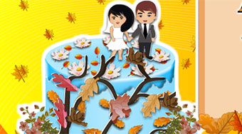 Autumn Wedding Cake - Game | Mahee.com