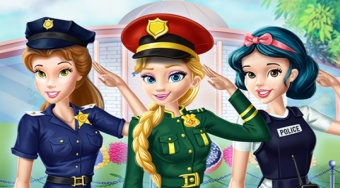 Disney Girls at Police Academy - online game | Mahee.com