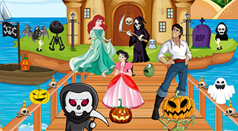 Ariel Halloween Celebration - online game | Mahee.com