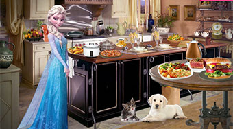 Elsa In Vintage Kitchen | Mahee.com