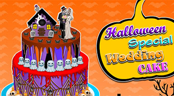 Halloween Special Wedding Cake - online game | Mahee.com