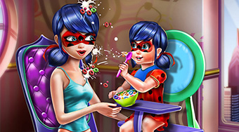 Ladybug Mommy Toddler Feed - online game | Mahee.com