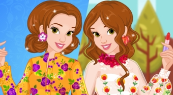 Belle's Fall Floral Fashion | Free online game | Mahee.com