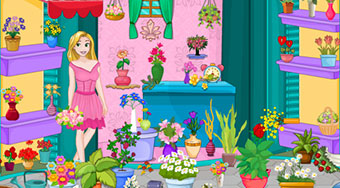 Rapunzel Flower Shop Cleaning | Free online game | Mahee.com