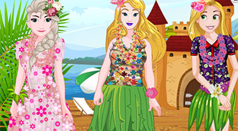 Princesses Trip To Hawaii - Game | Mahee.com