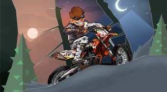 Monkey Motocross Winter - online game | Mahee.com