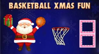Basketball Xmas Fun | Free online game | Mahee.com