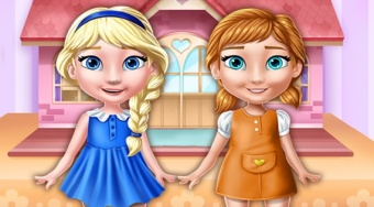 Ellie and Annie Doll House | Free online game | Mahee.com