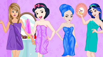 Princesses Colorful Bathroom Design - Game | Mahee.com