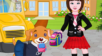 Puppy Going To School - online game | Mahee.com