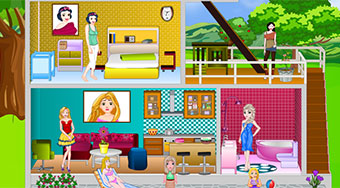 Princess Modern Doll house - online game | Mahee.com