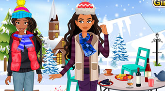 Elena And Moana Outdoor Winter Party | Mahee.fr