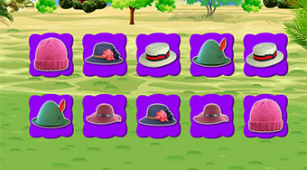 Beautiful Hats Memory | Free online game | Mahee.com