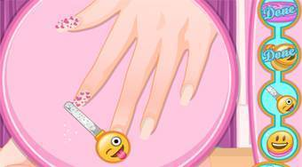 Barbie Emoji Nails Designer - Game | Mahee.com