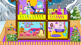 Princess Christmas Doll House