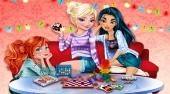 Princesses Board Game Night