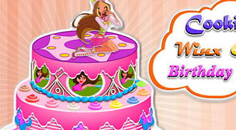 Cooking Winx Club Birthday Cake - online game | Mahee.com