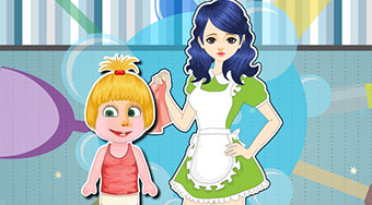 Masha Babysitter Room Cleaning | Mahee.com