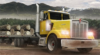 Play Free 18 Wheeler Lumber Cargo Game