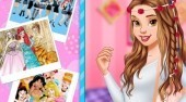 Play Belle Friendship Memories and help the princess create a photo album and decorate it then create her outfit!