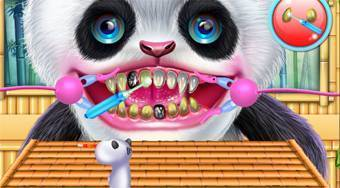 Cute Panda Dentist Care