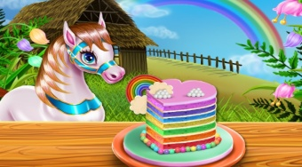 Pony Cooking Rainbow Cake | Free online game | Mahee.com
