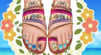 Design My Beach Pedicure - Game | Mahee.com