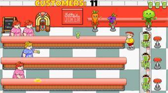 Diner Tapper: Dash for the Superhero Smoothie - Game | Mahee.com
