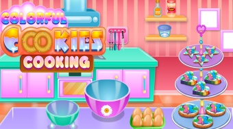Colorful Cookies Cooking