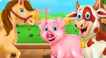 Animals Farm Cleaning - online game | Mahee.com