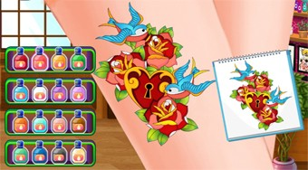 Tattoo Party | Free online game | Mahee.com