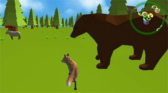 Fox Familly Simulator - online game | Mahee.com