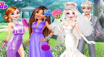 Elsa's Wonderland Wedding - online game | Mahee.com